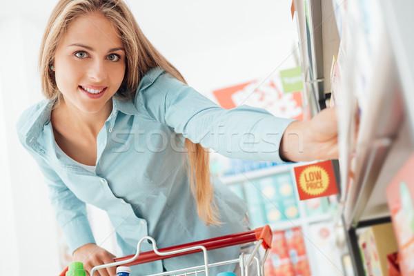 女性 食料品 ショッピング 美しい 若い女性 ストックフォト © stokkete