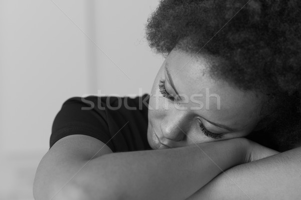 Woman relaxing with eyes closed Stock photo © stokkete