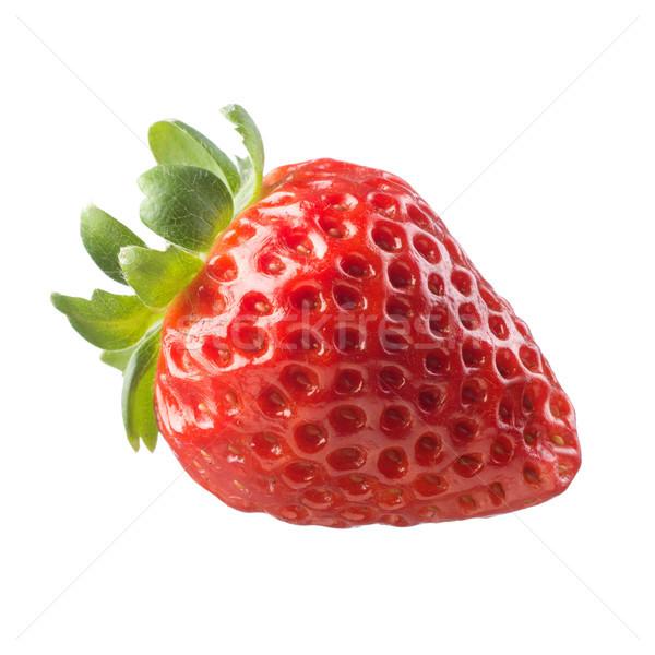 Foto d'archivio: Succosa · fragola · bianco · fresche · frutta