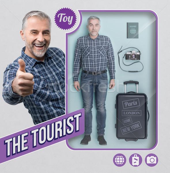The tourist lifelike doll Stock photo © stokkete
