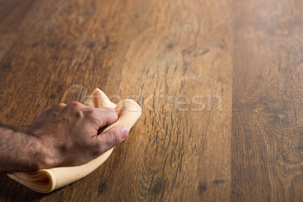 Hardwood floor manteinance Stock photo © stokkete