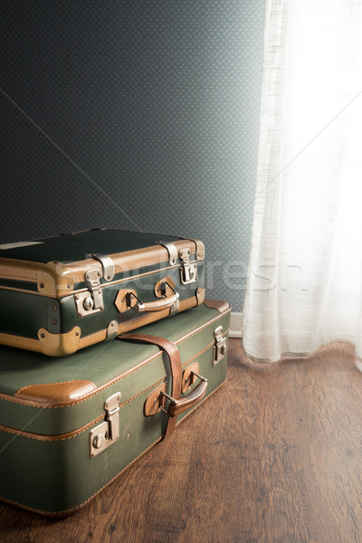Room interior with suitcases and window Stock photo © stokkete
