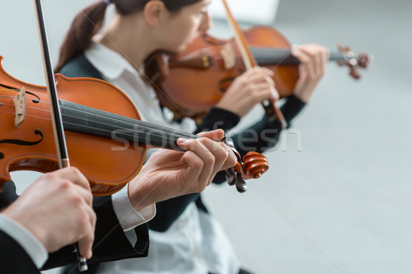 Violin duet performance Stock photo © stokkete
