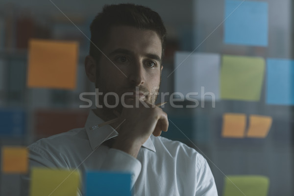 Creative business solutions and strategy Stock photo © stokkete