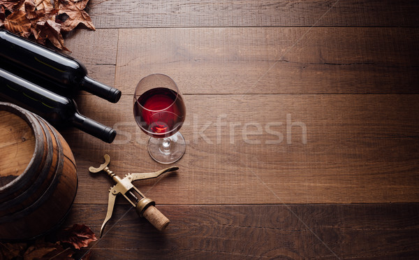 Tasting excellent red wine Stock photo © stokkete