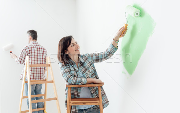 Couple painting together Stock photo © stokkete