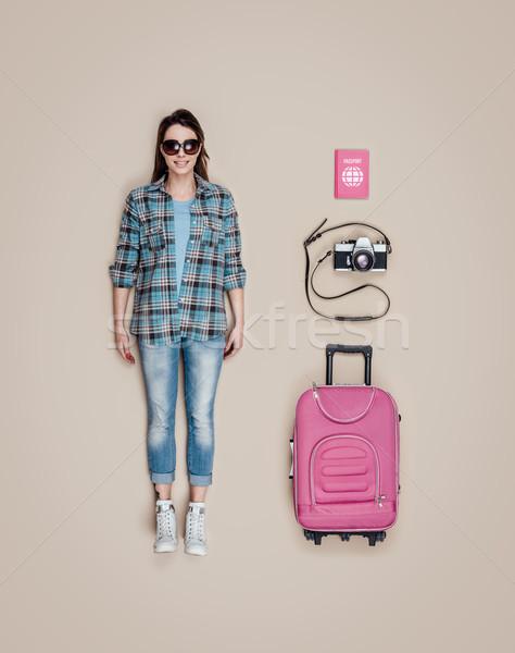 Lifelike tourist doll Stock photo © stokkete