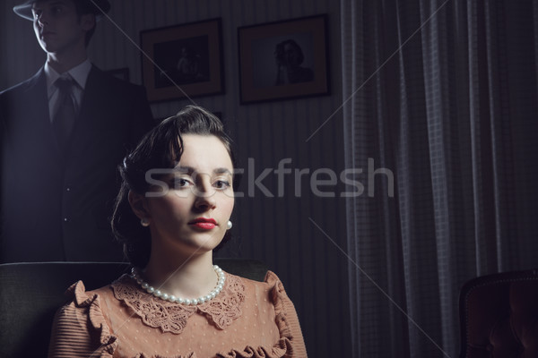 1950s woman portrait Stock photo © stokkete