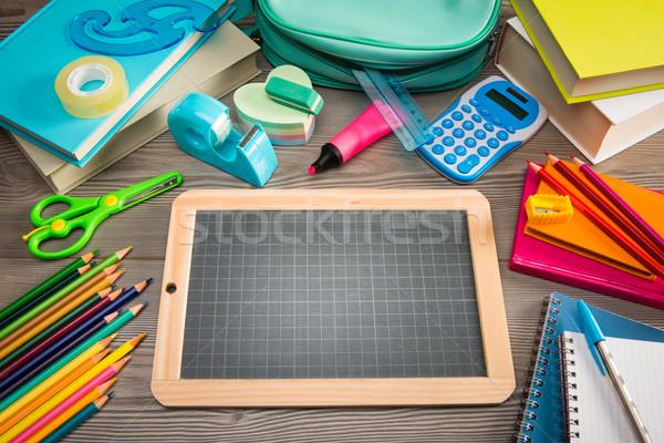 Back to school with chalkboard Stock photo © stokkete