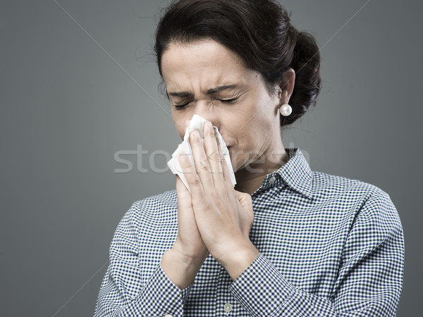 Woman with allergy Stock photo © stokkete