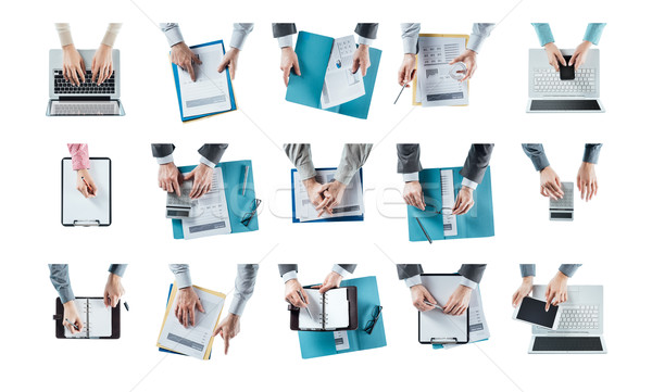Multitasking businessman Stock photo © stokkete