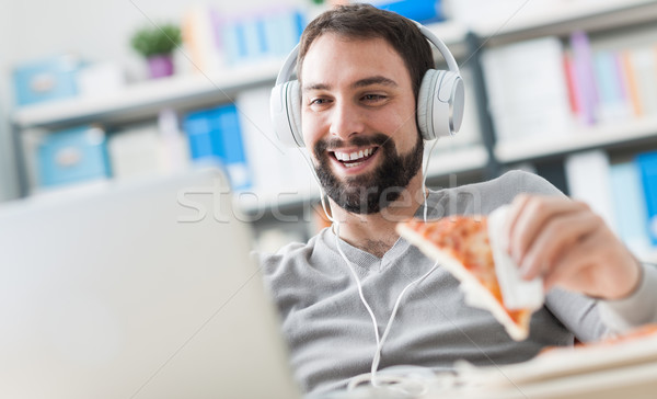 Man enjoying his lunch break Stock photo © stokkete