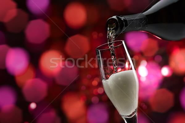 Degustação de vinhos celebração vinho branco copo de vinho Foto stock © stokkete