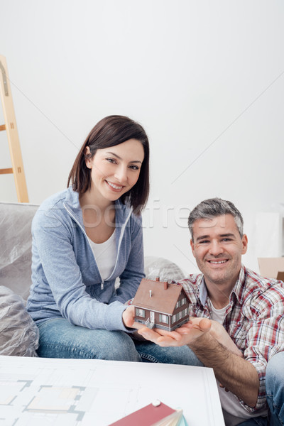 Couple building their dream house Stock photo © stokkete