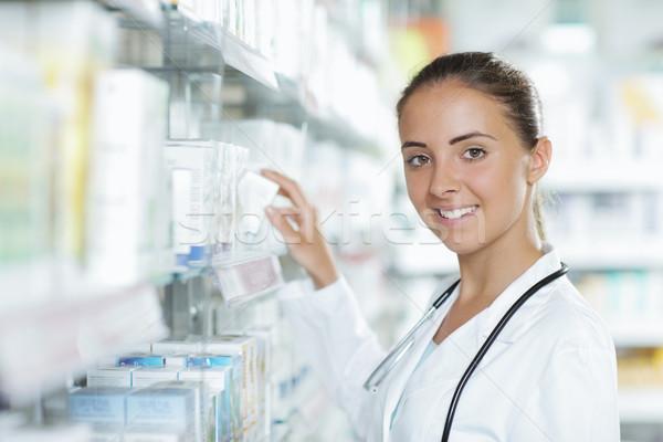 Pharmacy: Selecting a Medication Stock photo © stokkete