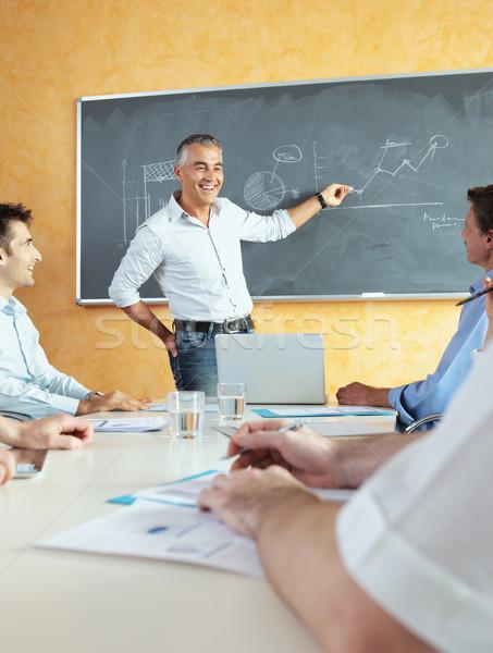 Reunión de negocios grupo sesión seminario negocios Foto stock © stokkete