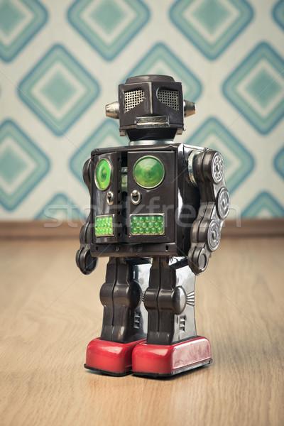 Vintage tin toy robot Stock photo © stokkete