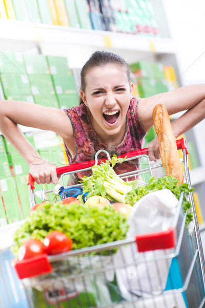Angry customer at supermarket Stock photo © stokkete