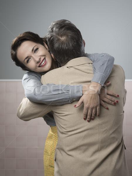 Happy couple embracing Stock photo © stokkete