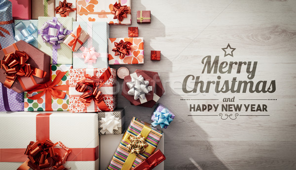 Merry Christmas and Happy New Year  Stock photo © stokkete