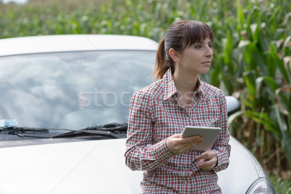 Lost woman with digital tablet Stock photo © stokkete