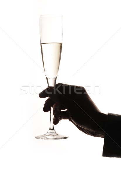 Verre champagne homme main Photo stock © stokkete