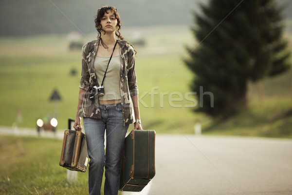 Travel on the road Stock photo © stokkete