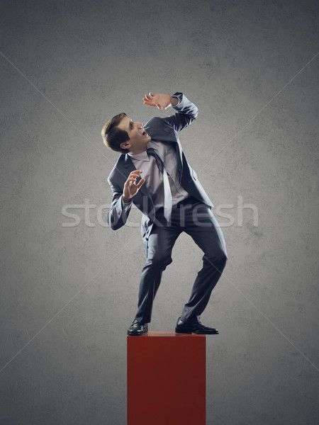 Young businessman scared Stock photo © stokkete