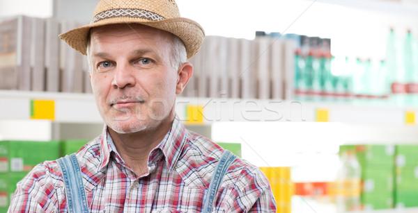 農家 スーパーマーケット ストア 棚 ショッピング シャツ ストックフォト © stokkete
