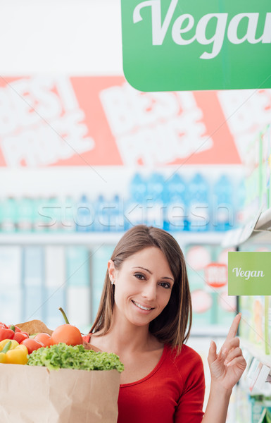 Vegan shopping Stock photo © stokkete