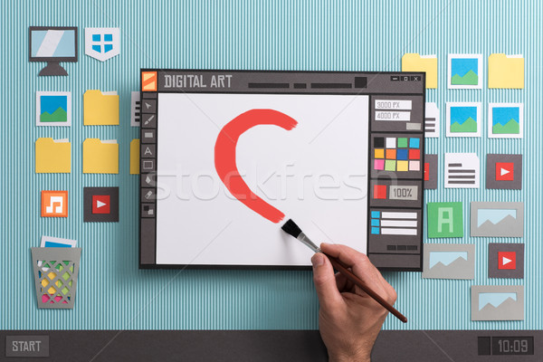 Digital painting software Stock photo © stokkete