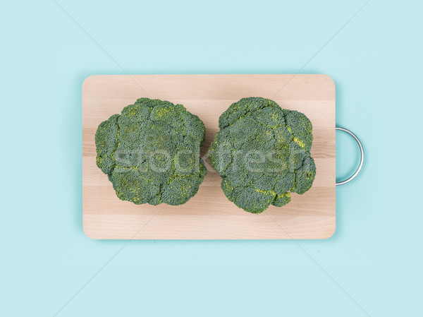 Fresh broccoli on a chopping board Stock photo © stokkete
