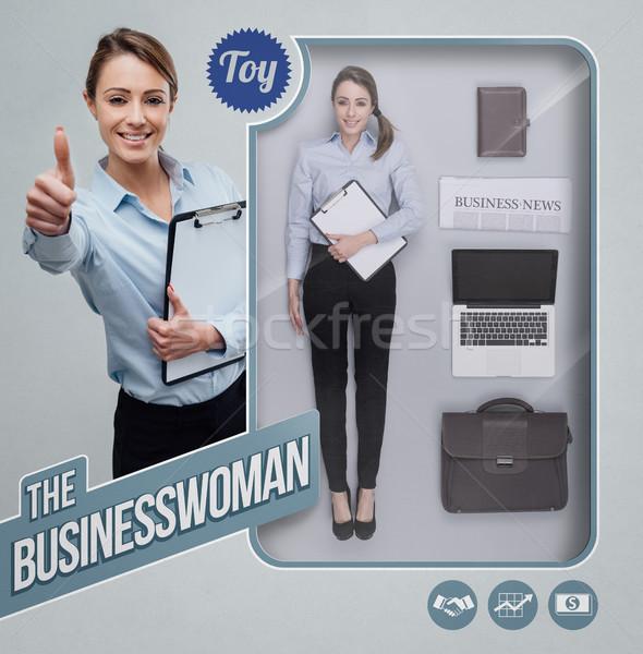 The businesswoman lifelike doll Stock photo © stokkete