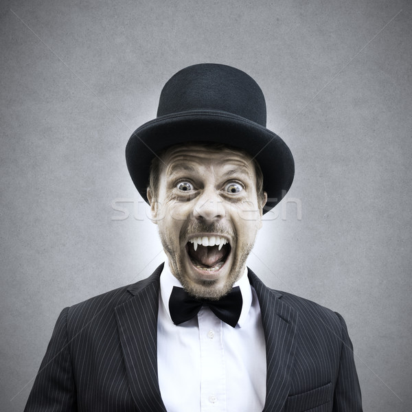Vampire businessman Stock photo © stokkete