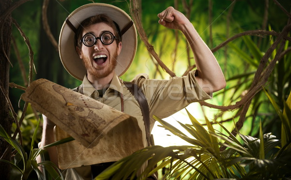 Explorer finding the right path in the jungle Stock photo © stokkete