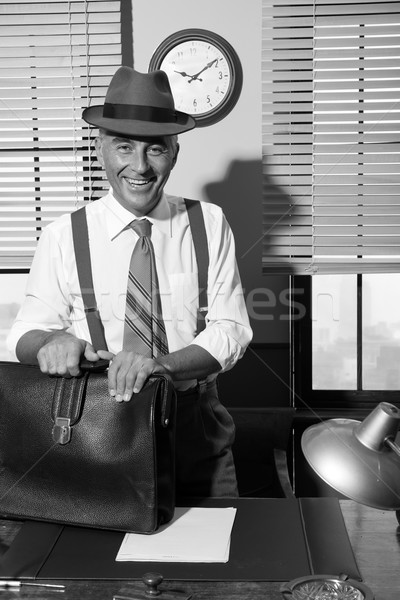 Smiling businessman arriving at office Stock photo © stokkete