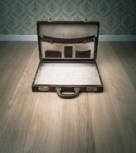Open vintage briefcase Stock photo © stokkete