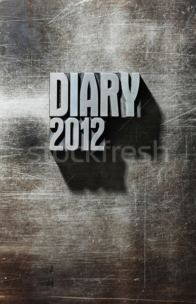 2012 diary metal cover Stock photo © stokkete