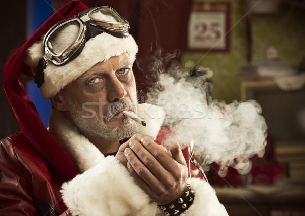 Slechte roken gezamenlijk portret drugs Stockfoto © stokkete