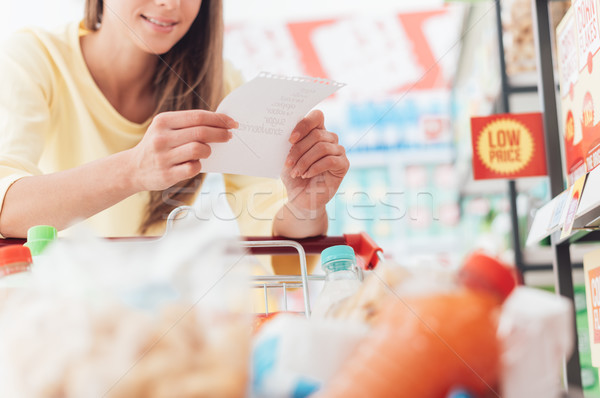 Grocery shopping Stock photo © stokkete