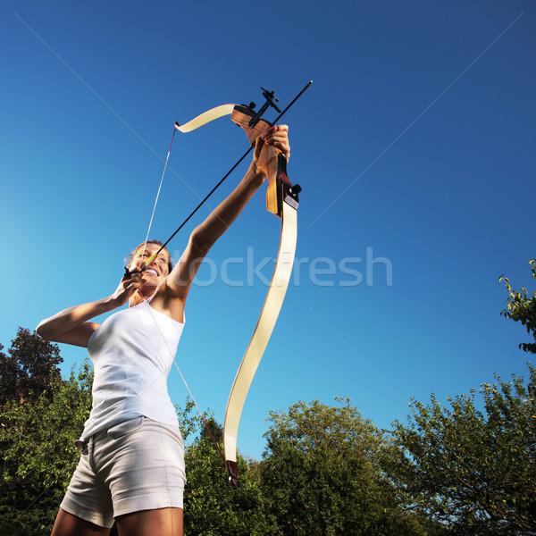 женщины лучник лук модель Сток-фото © stokkete