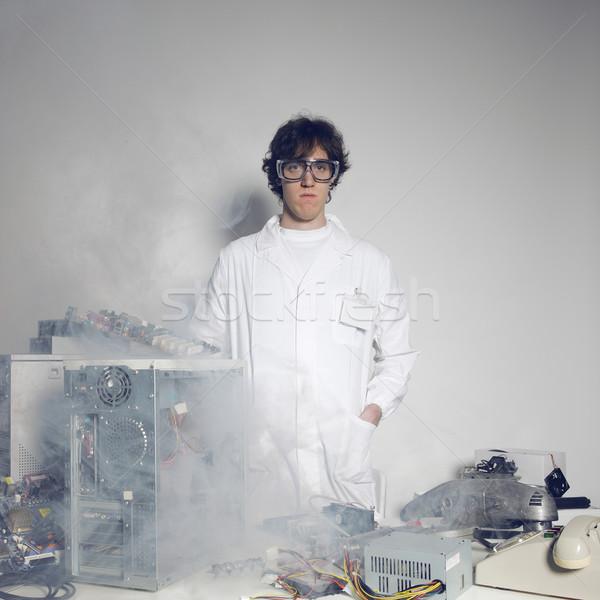 Computador catástrofe retrato técnico destruído tecnologia Foto stock © stokkete