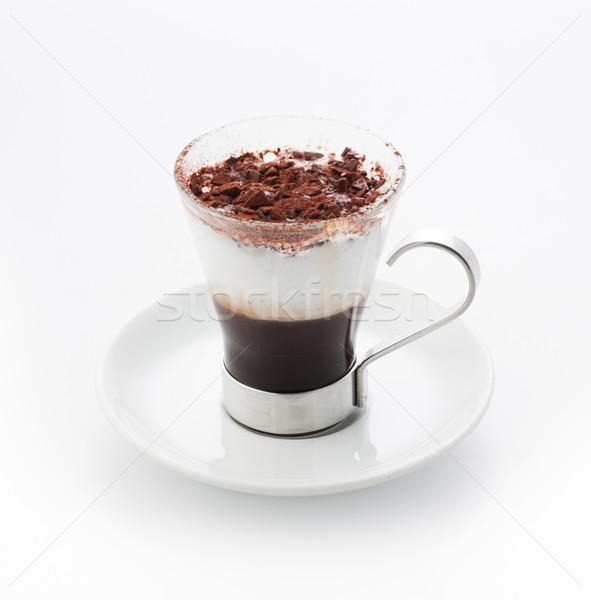 Kávészünet kávé krém elegáns csésze bár Stock fotó © stokkete