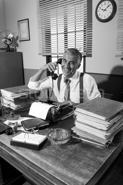 Vintage dziennikarz telefonu zawodowych pracy Zdjęcia stock © stokkete
