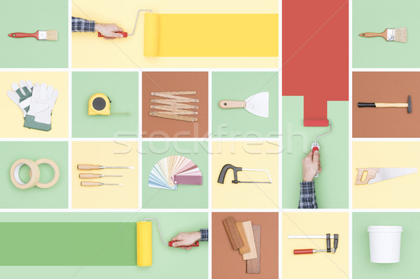 Do it yourself tools mosaic Stock photo © stokkete