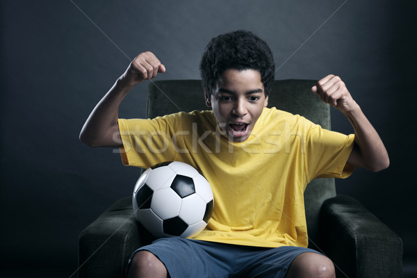 Soccer World Cup on Tv Stock photo © stokkete