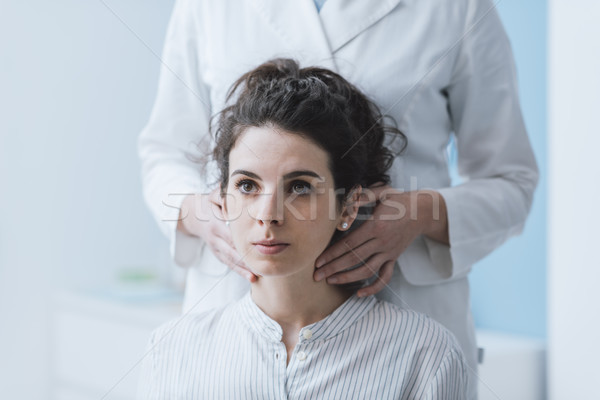 Doctor visiting a patient at the hospital Stock photo © stokkete
