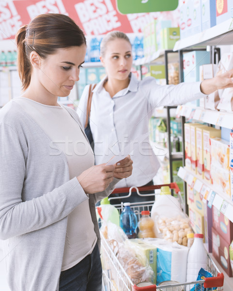 Woman doing grocery shopping Stock photo © stokkete