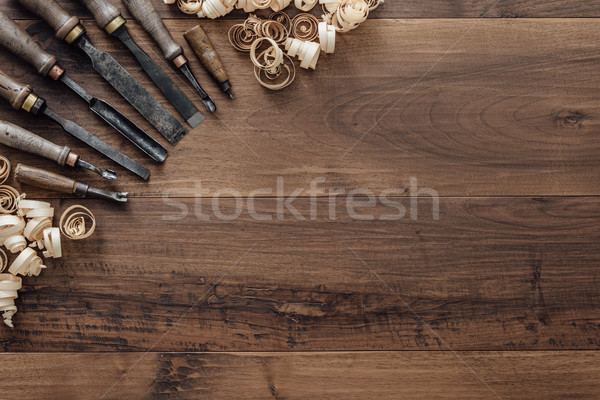 Collection of vintage woodworking tools Stock photo © stokkete