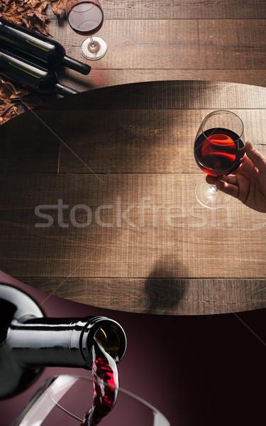 Vinho tinto degustação excelente degustação de vinhos bar Foto stock © stokkete